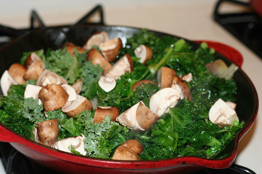 Baby Bella And Kale Casserole Recipe — Dishmaps