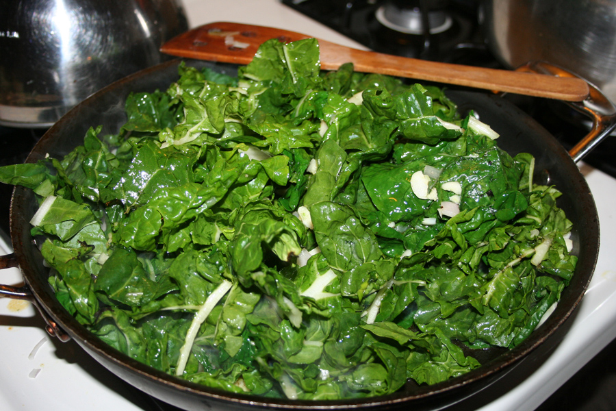 how to cook swiss chard stalks